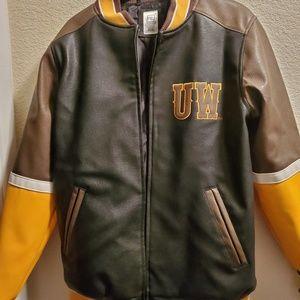 University of Wyoming leather jacket